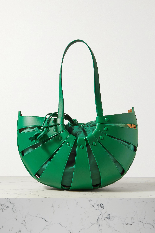 Bottega Veneta - The Shell medium leather shoulder bag