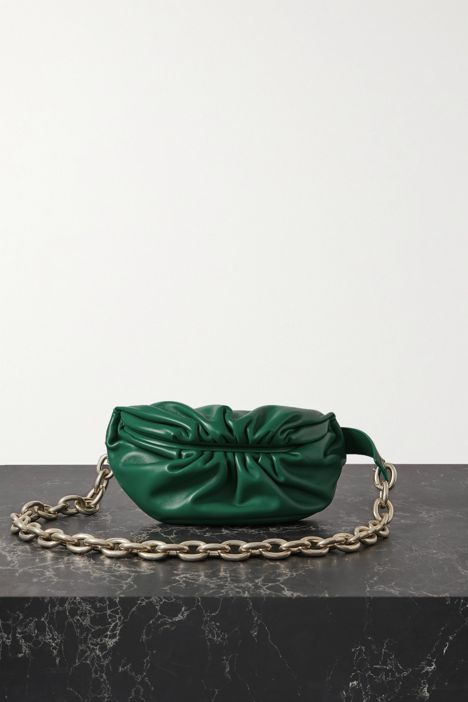 Bottega Veneta - The Chain Pouch gathered leather belt bag