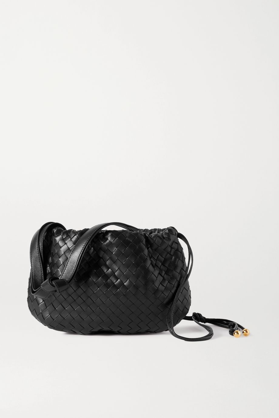 Bottega Veneta The Small Bulb gathered intrecciato leather shoulder bag