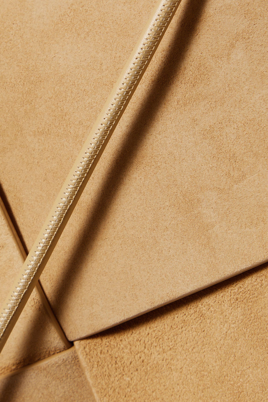 Bottega Veneta Flower Basket medium intrecciato suede and leather tote