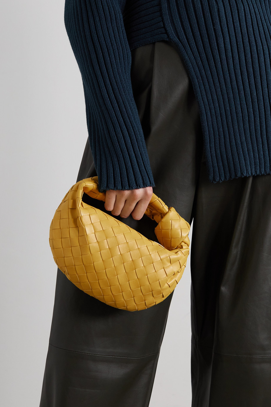 Bottega Veneta Jodie mini knotted intrecciato leather tote