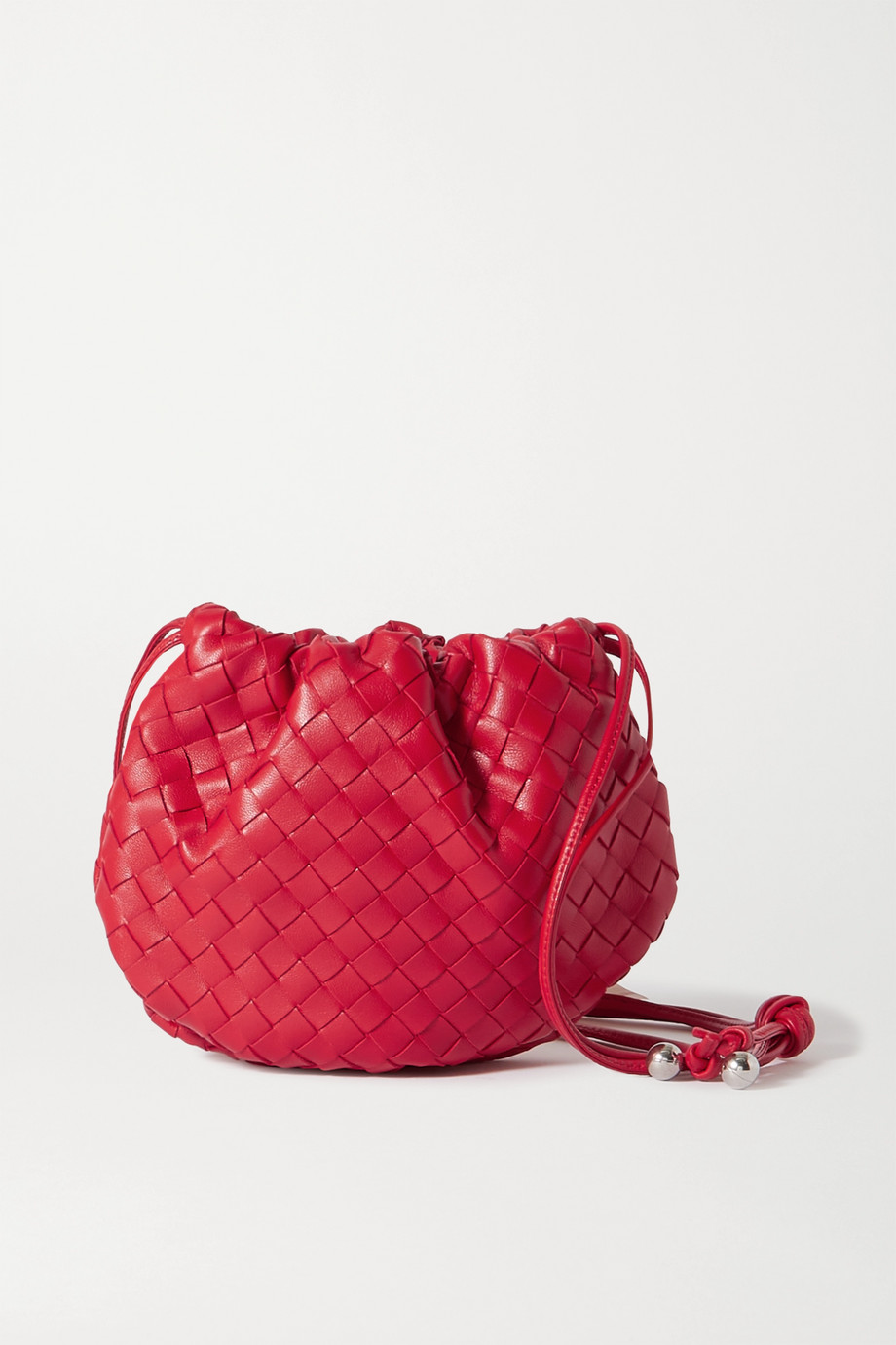 Bottega Veneta Sac porté épaule en cuir intrecciato à fronces The Mini Bulb