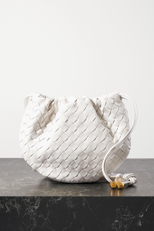 Bottega Veneta The Mini Bulb gathered intrecciato leather shoulder bag