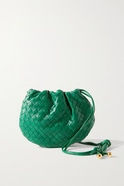 Bottega Veneta The Mini Bulb gathered intrecciato leather shoulder bag