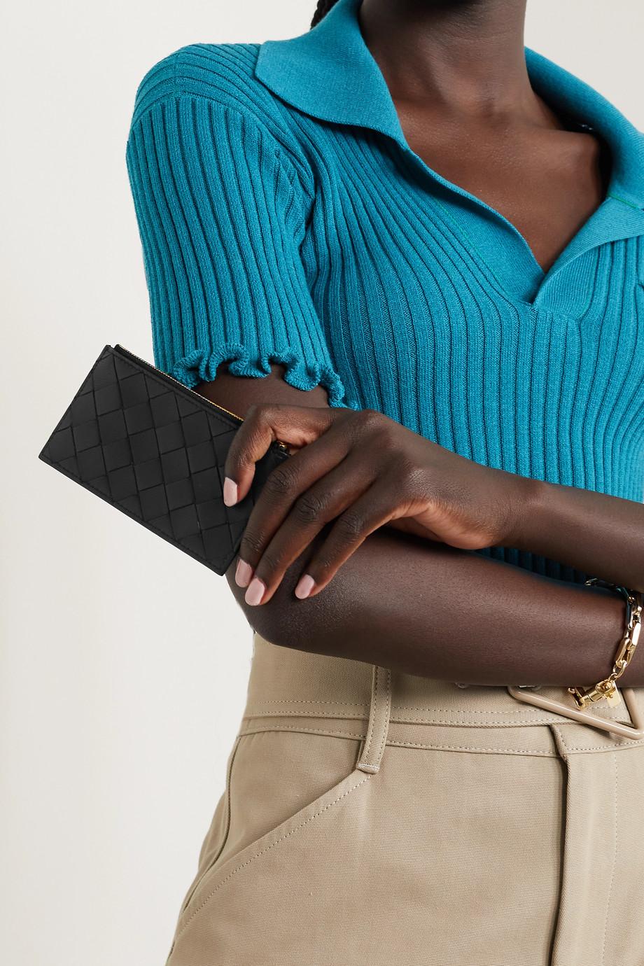 Bottega Veneta Porte-cartes en cuir intrecciato