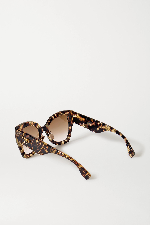 Fendi Oversized square-frame tortoiseshell acetate sunglasses