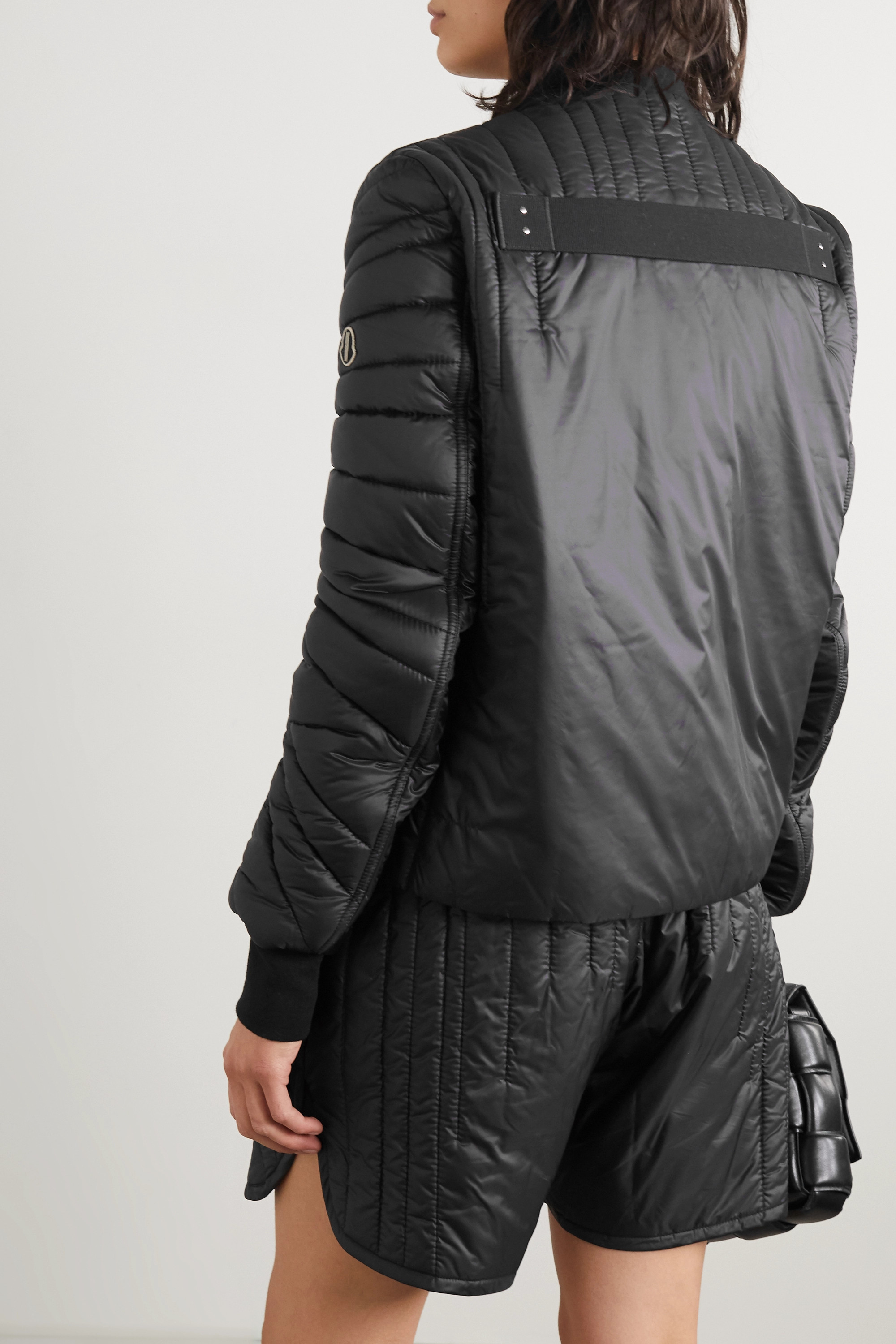 Moncler + Rick Owens Angle quilted shell bomber jacket