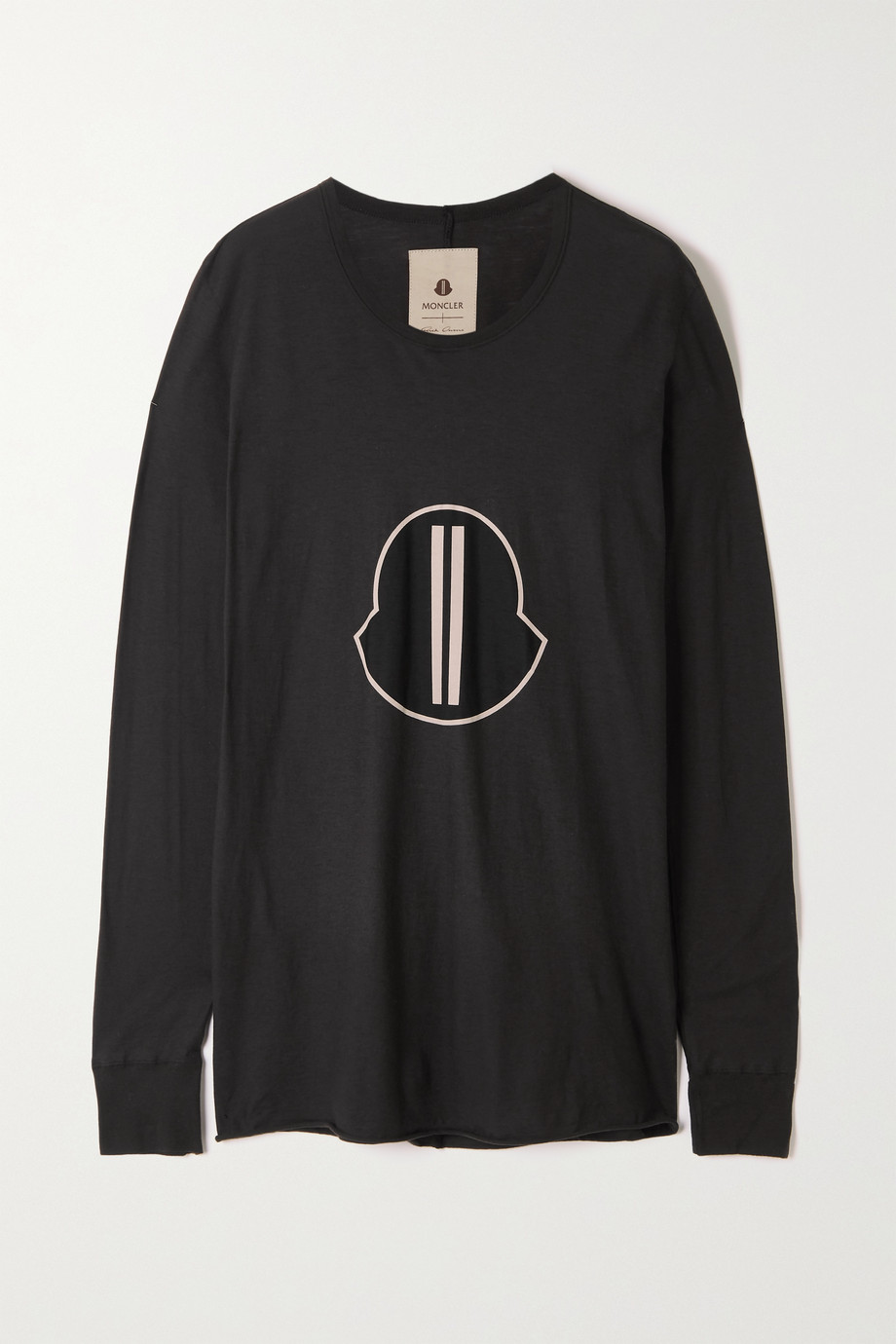 Moncler + Rick Owens Printed cotton-jersey T-shirt