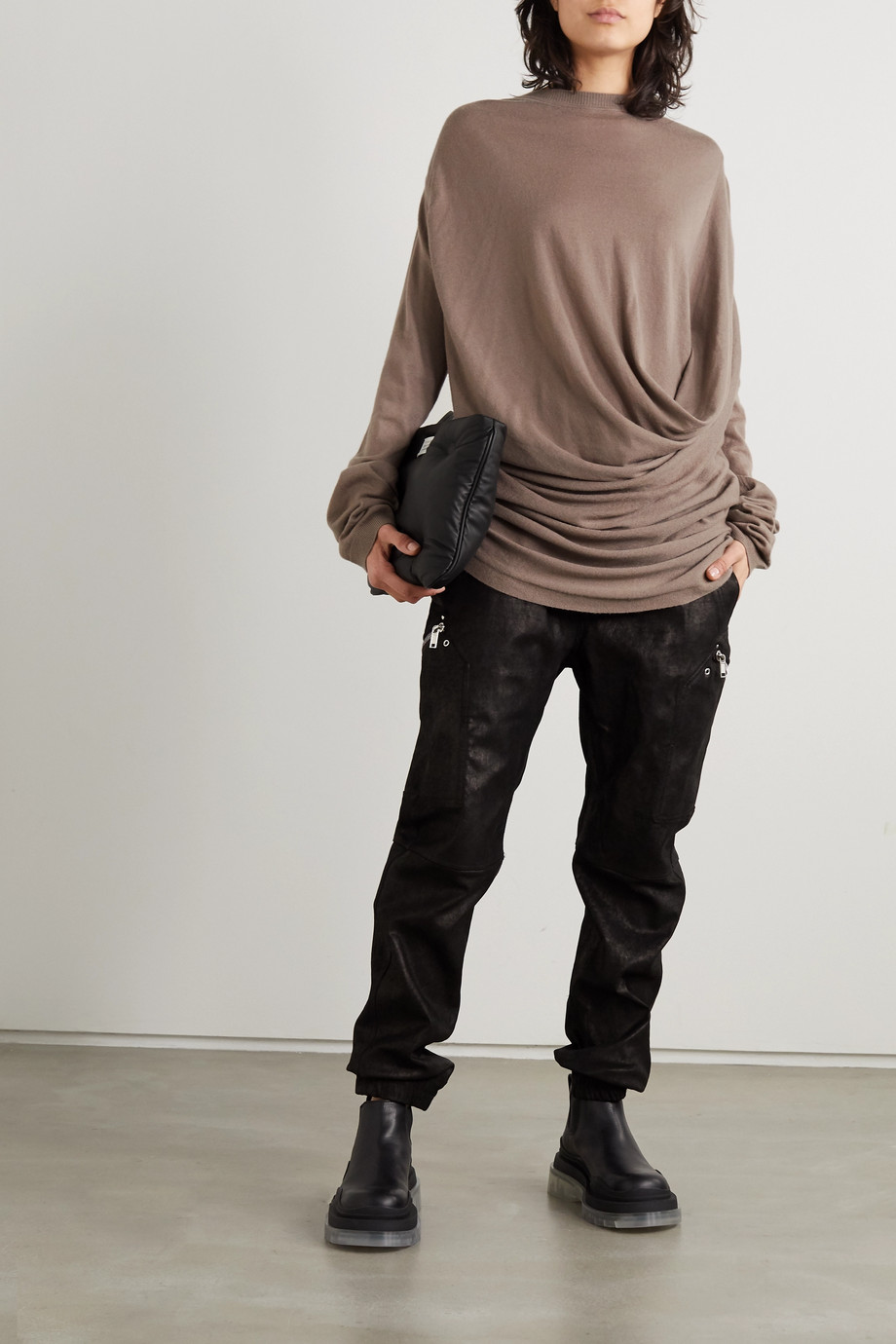 Moncler + Rick Owens Draped cashmere sweater