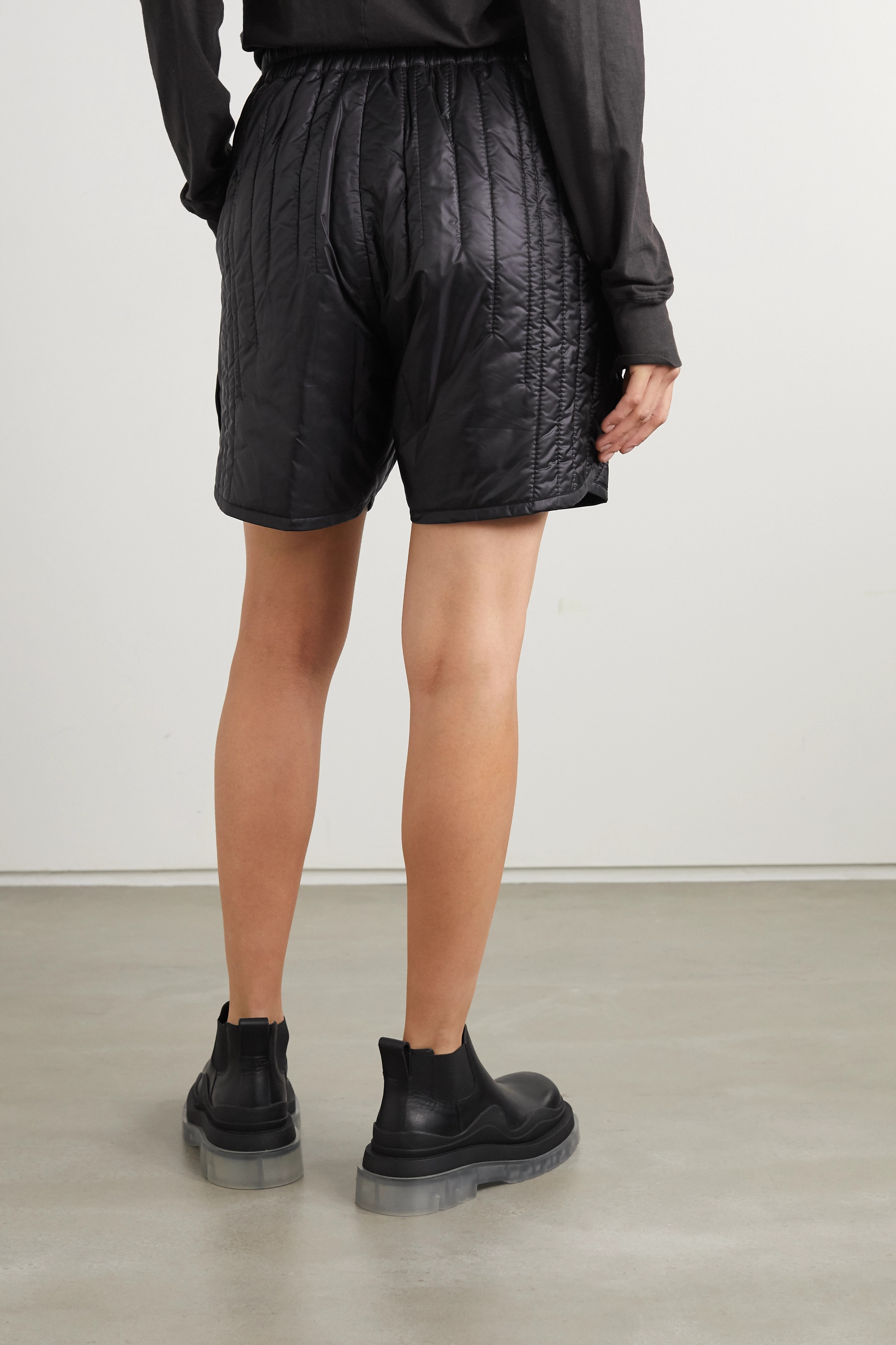 Moncler + Rick Owens Quilted shell shorts