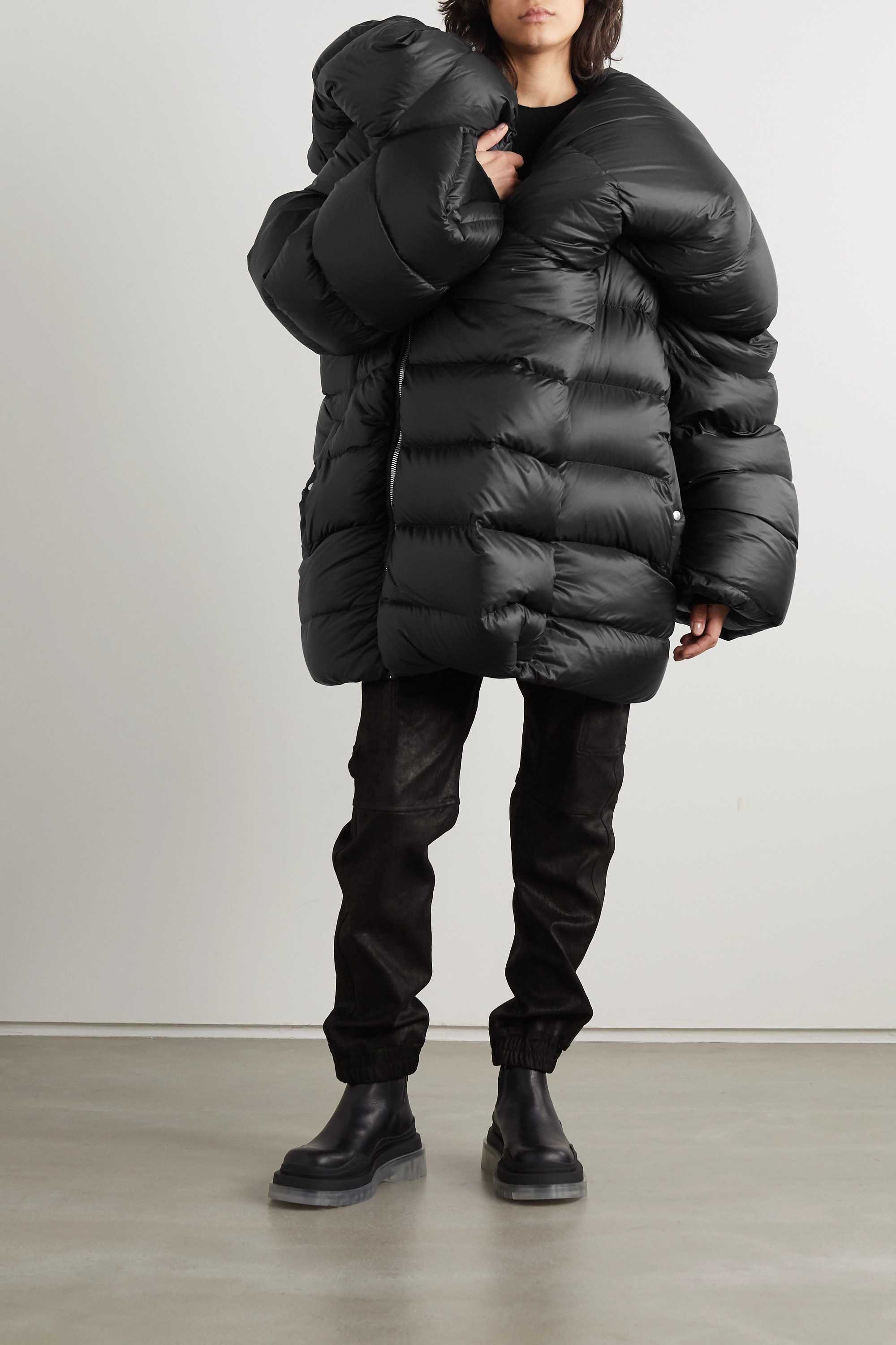 Moncler + Rick Owens Hikoville oversized quilted shell down coat