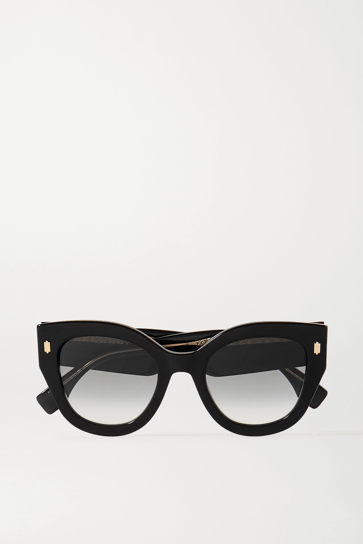 Fendi Oversized round-frame acetate sunglasses
