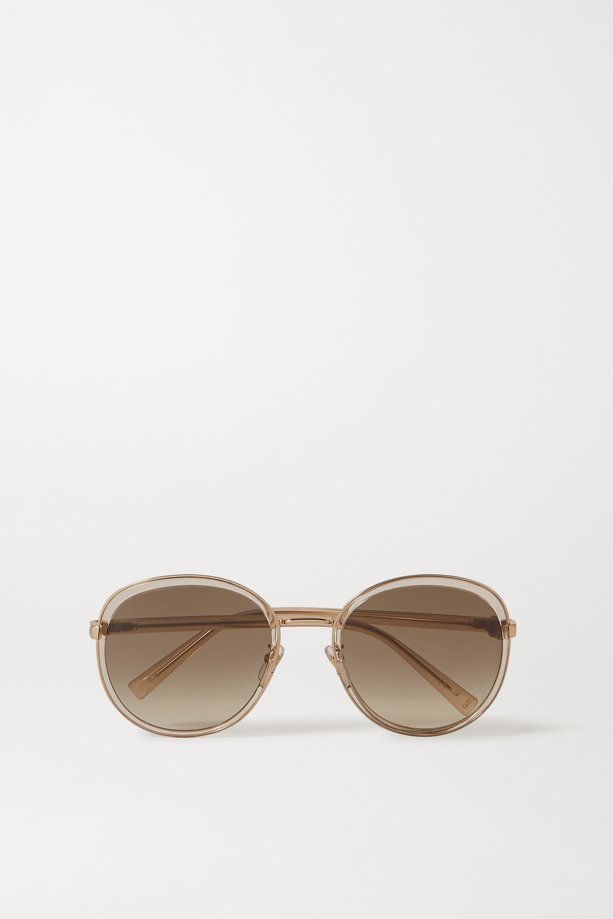 Givenchy Oversized round-frame acetate and gold-tone sunglasses