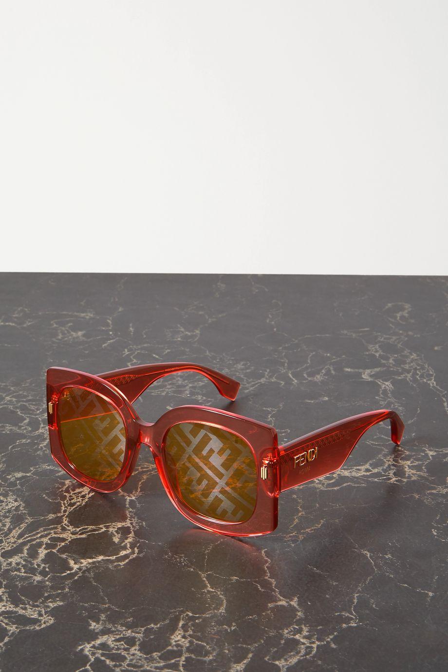 Fendi Oversized square-frame acetate sunglasses