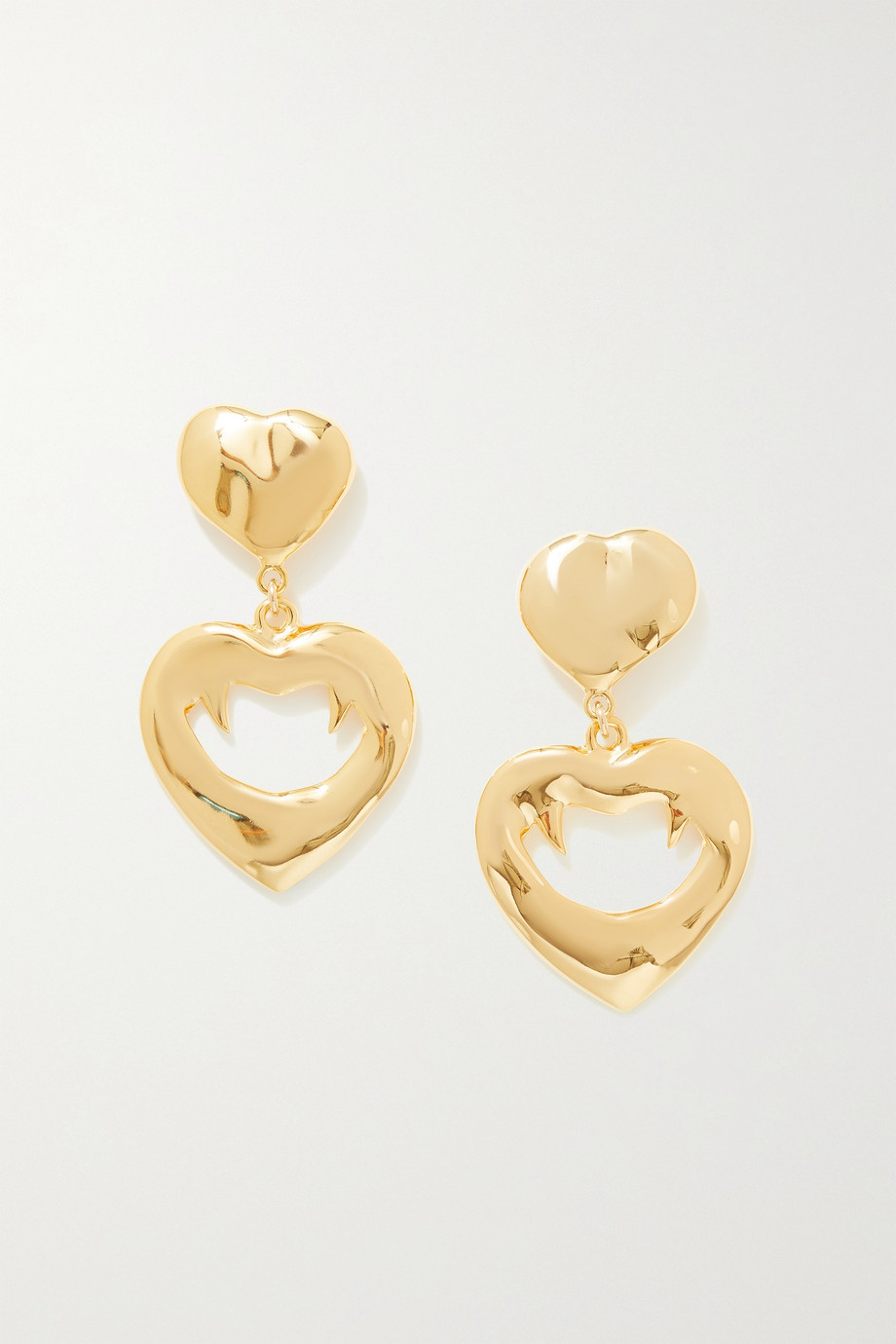 SAINT LAURENT Oversized gold-tone clip earrings