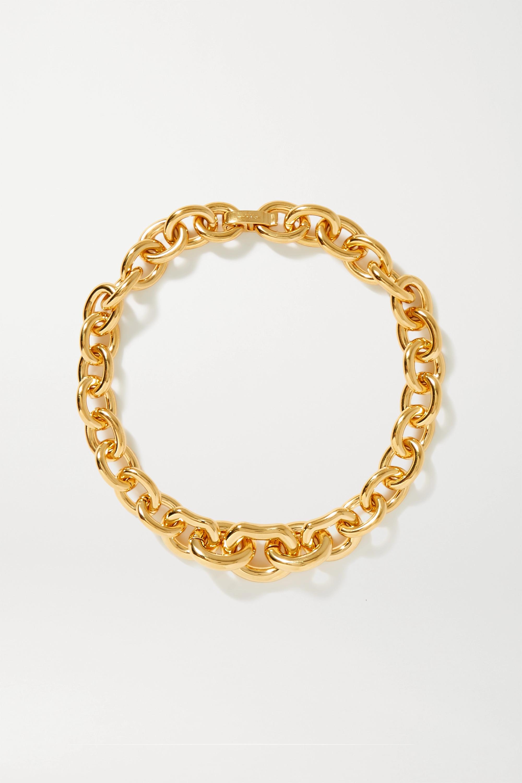 SAINT LAURENT - Gold-tone necklace