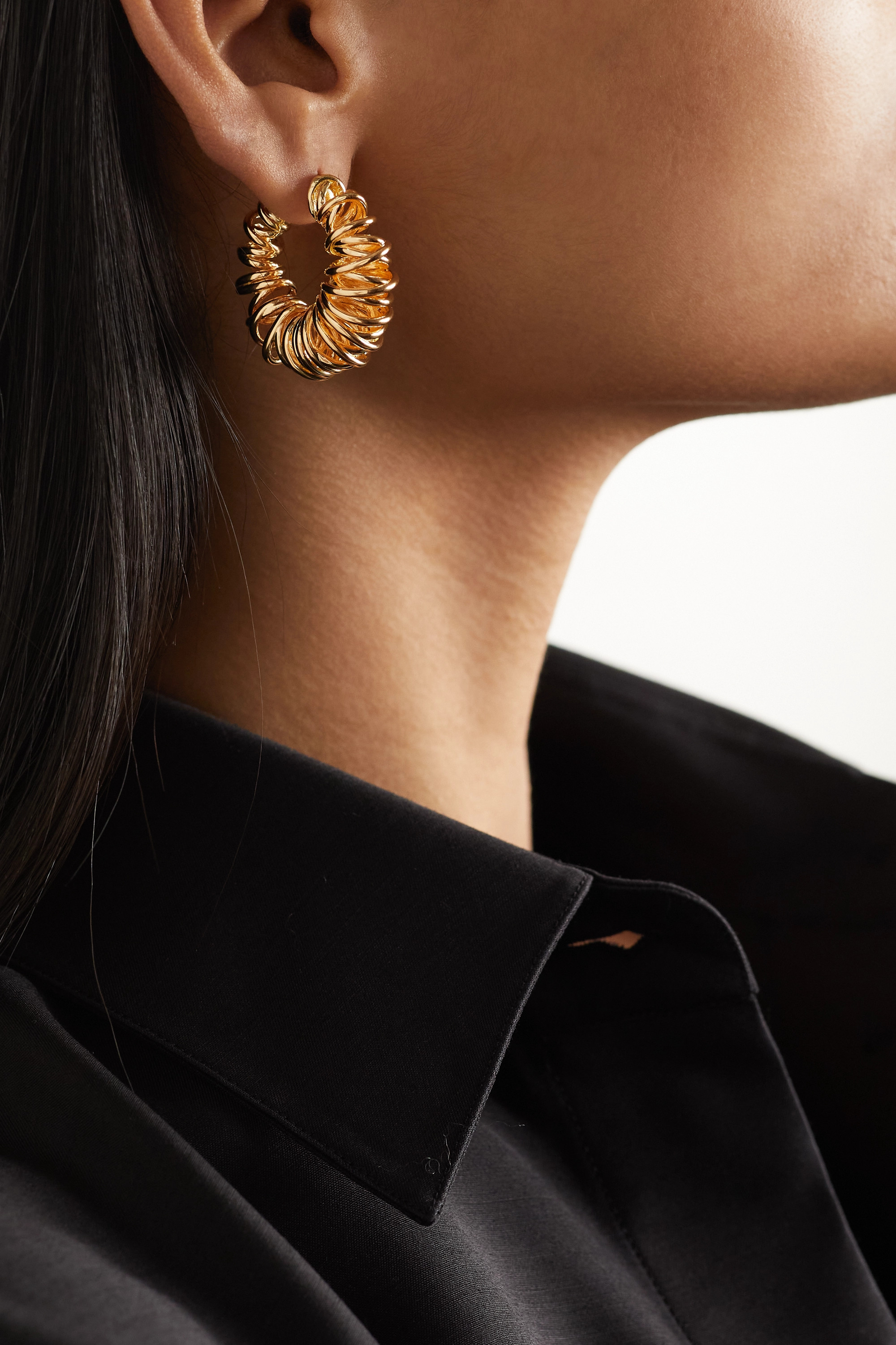 Bottega Veneta Gold-plated hoop earrings