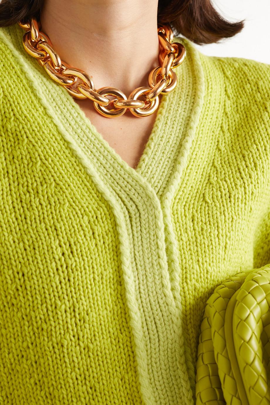 Bottega Veneta Collier en plaqué or