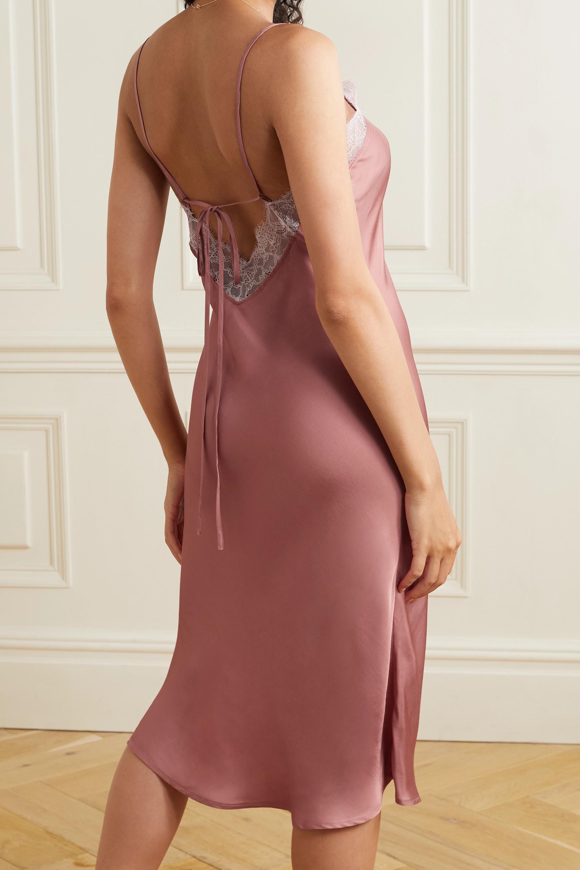 Love Stories Luna lace-trimmed satin midi dress