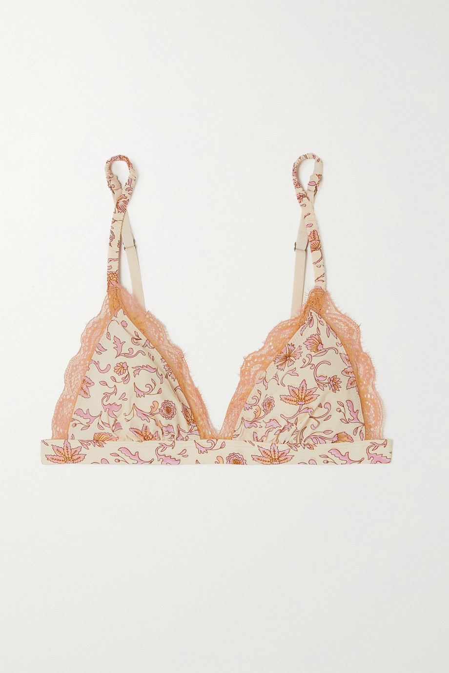 Love Stories Filippa floral-print recycled stretch-jersey soft-cup triangle bra