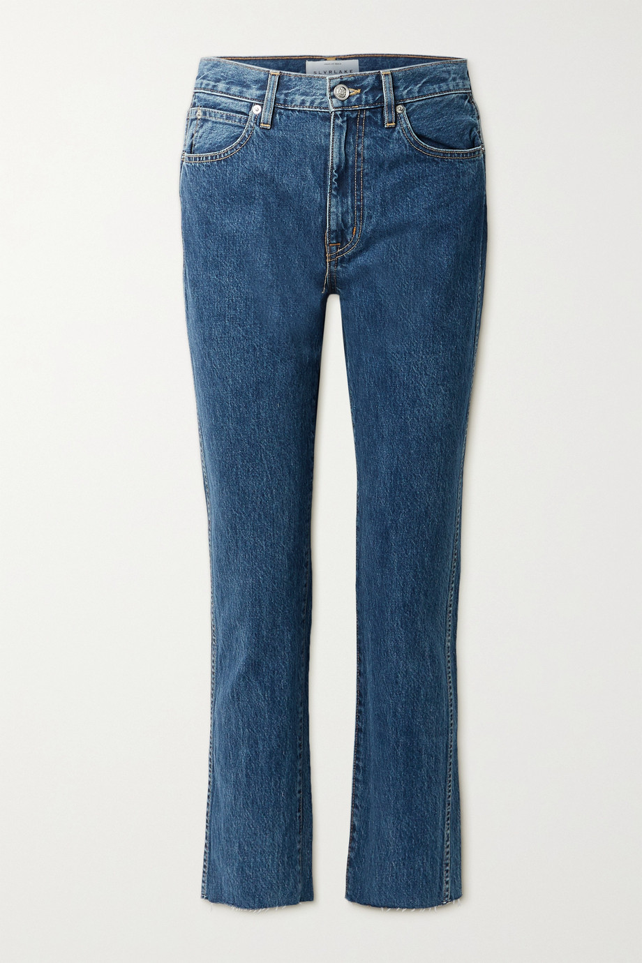 SLVRLAKE Hero frayed high-rise straight-leg jeans