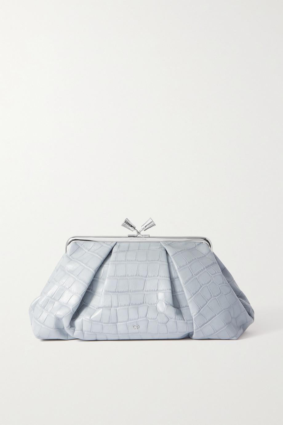 Anya Hindmarch Maud croc-effect leather clutch