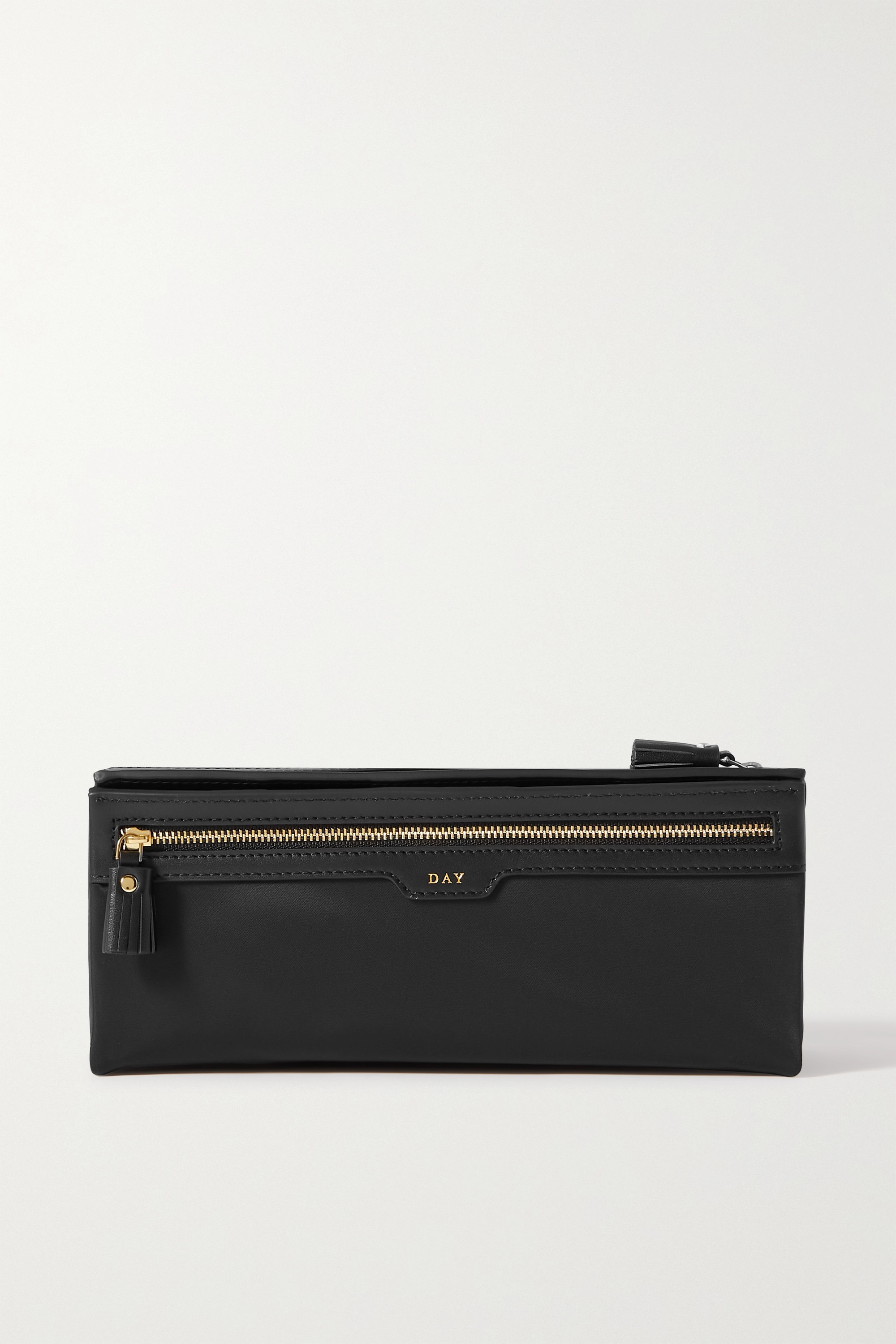Anya Hindmarch Night and Day leather-trimmed recycled shell pouch