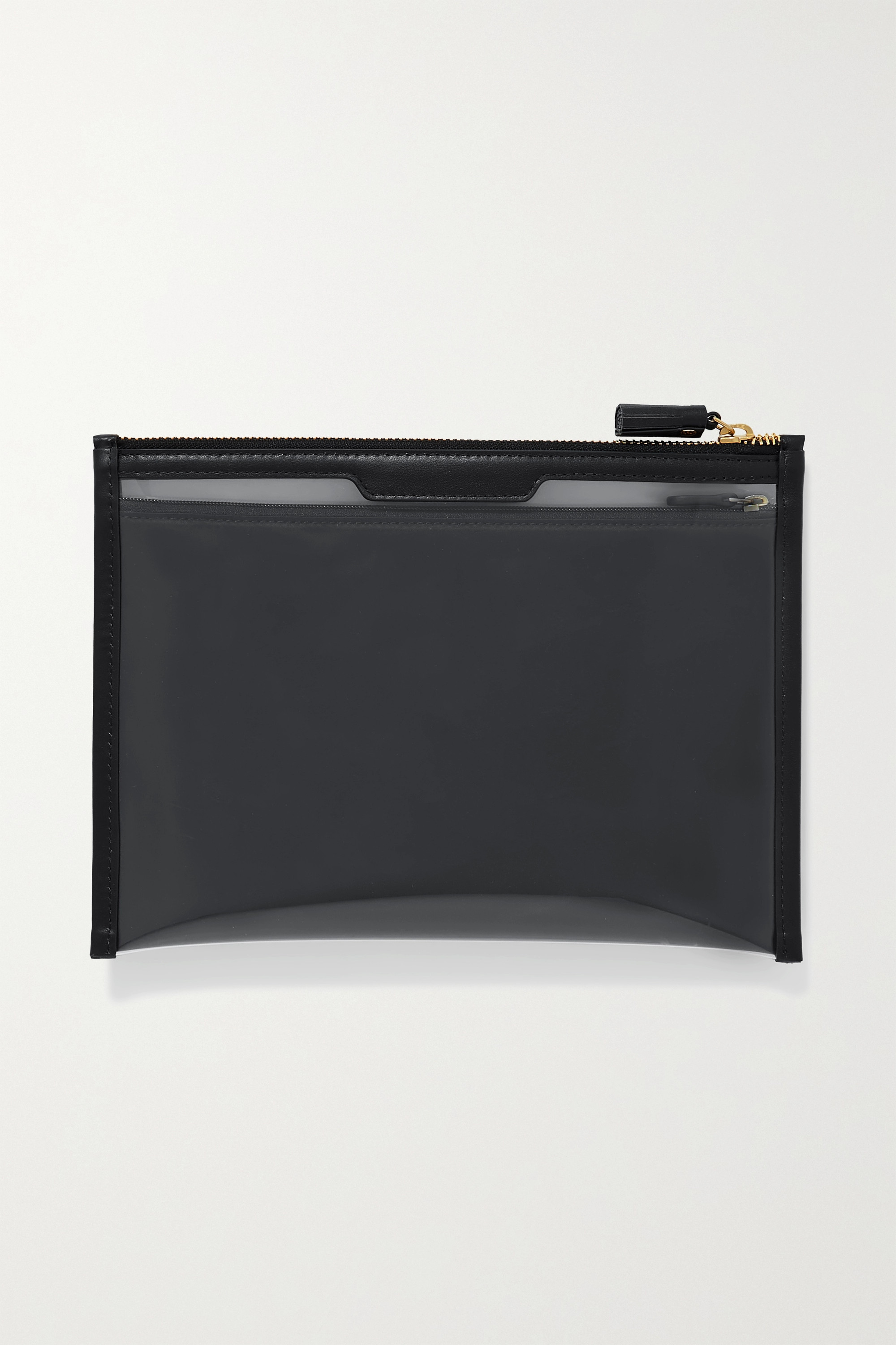 Anya Hindmarch Safe Deposit leather-trimmed PVC pouch