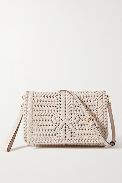 Anya Hindmarch NEESON WOVEN LEATHER SHOULDER BAG