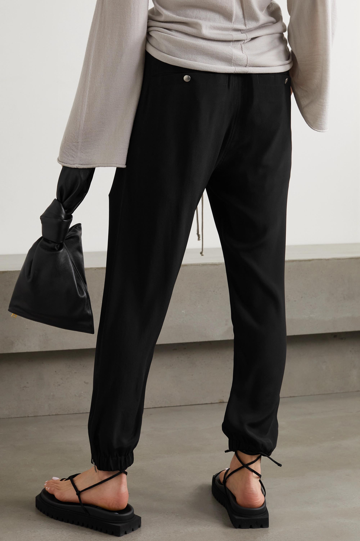 Rick Owens Zip-embellished crepe track pants