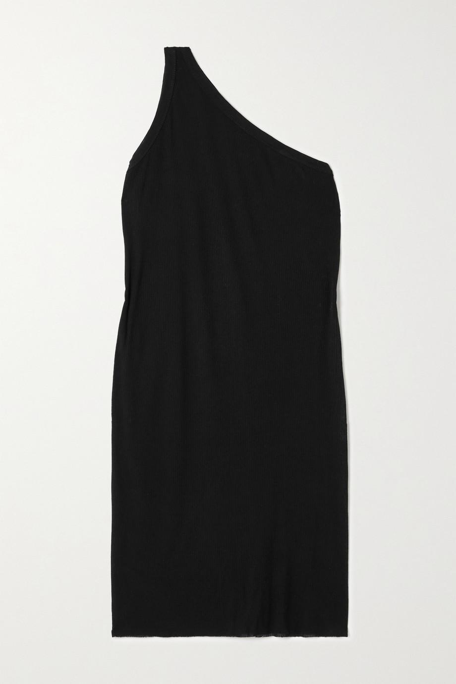 Rick Owens Anthem one-shoulder ribbed jersey mini dress