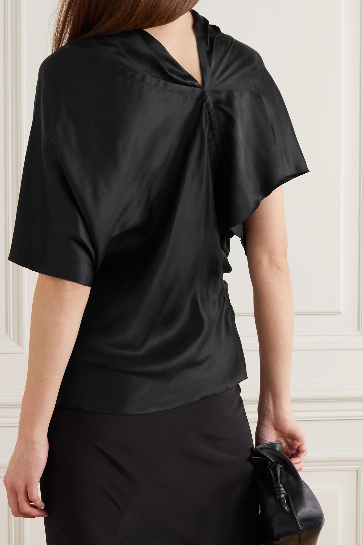 Rick Owens Seb asymmetric draped cupro T-shirt