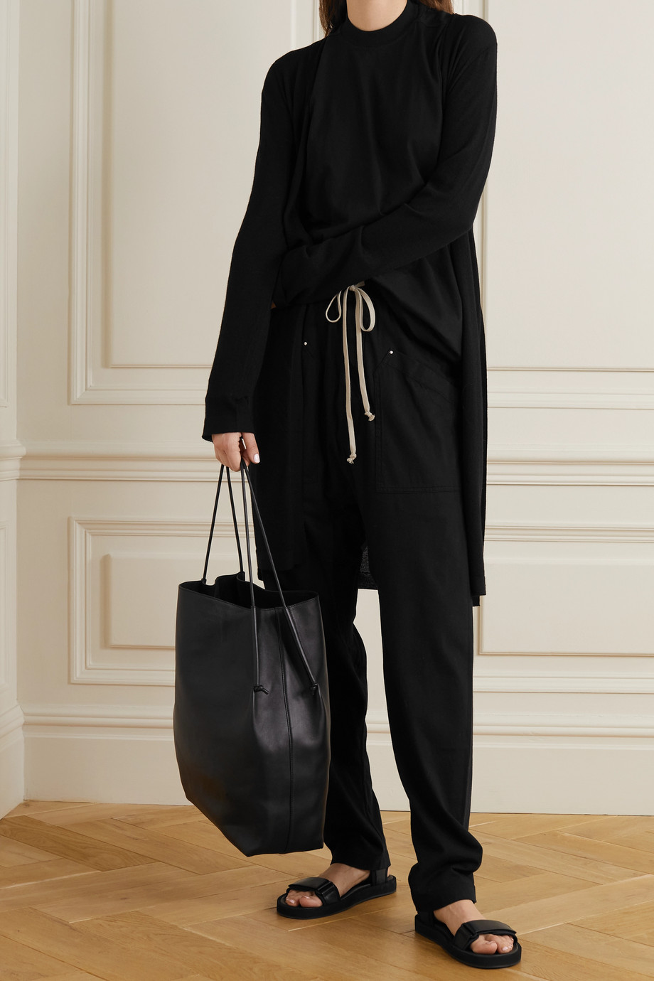 Rick Owens Sascha belted wool cardigan