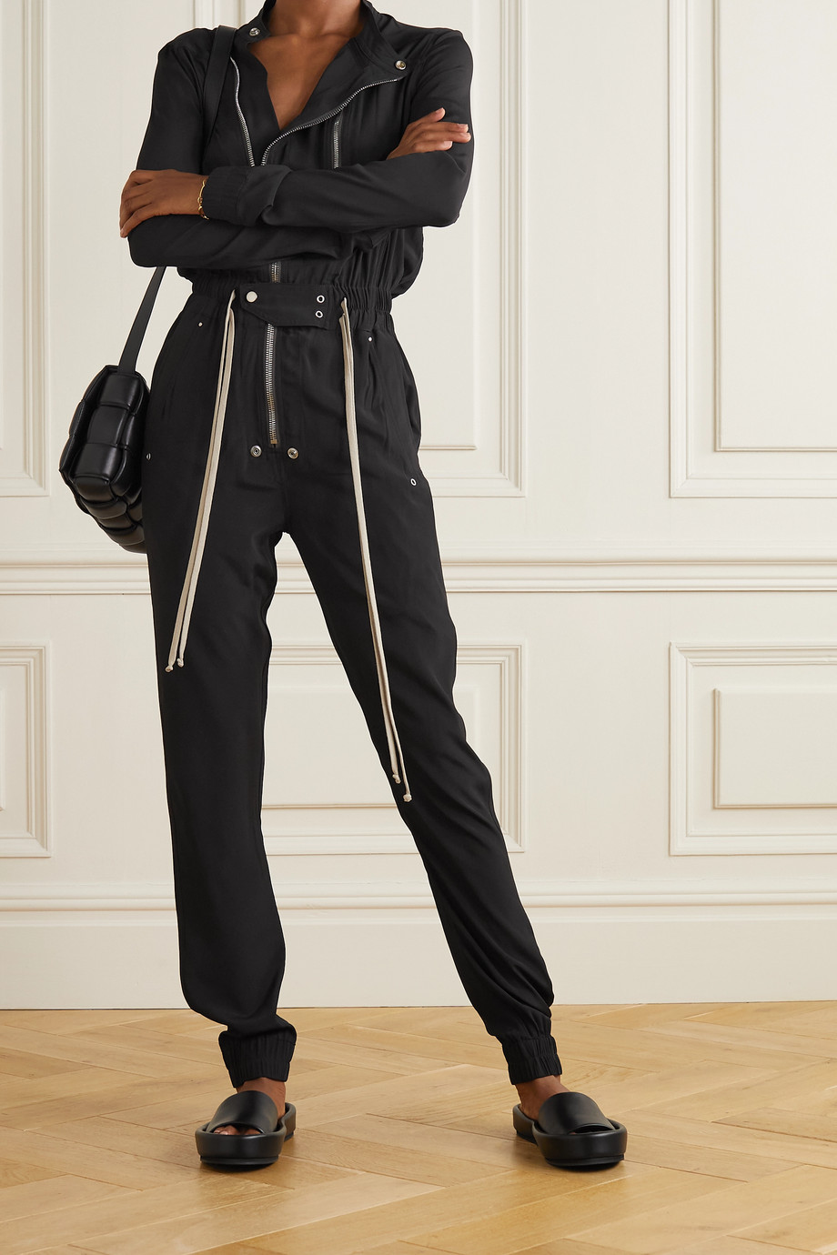 Rick Owens Gary crepe jumpsuit