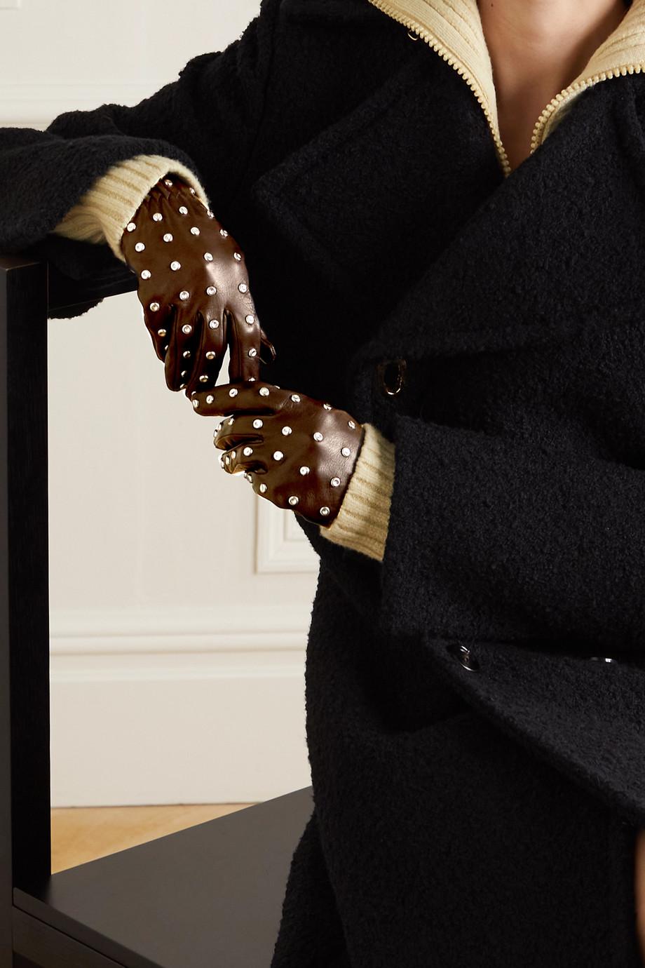 Bottega Veneta Handschuhe aus Leder mit Nieten