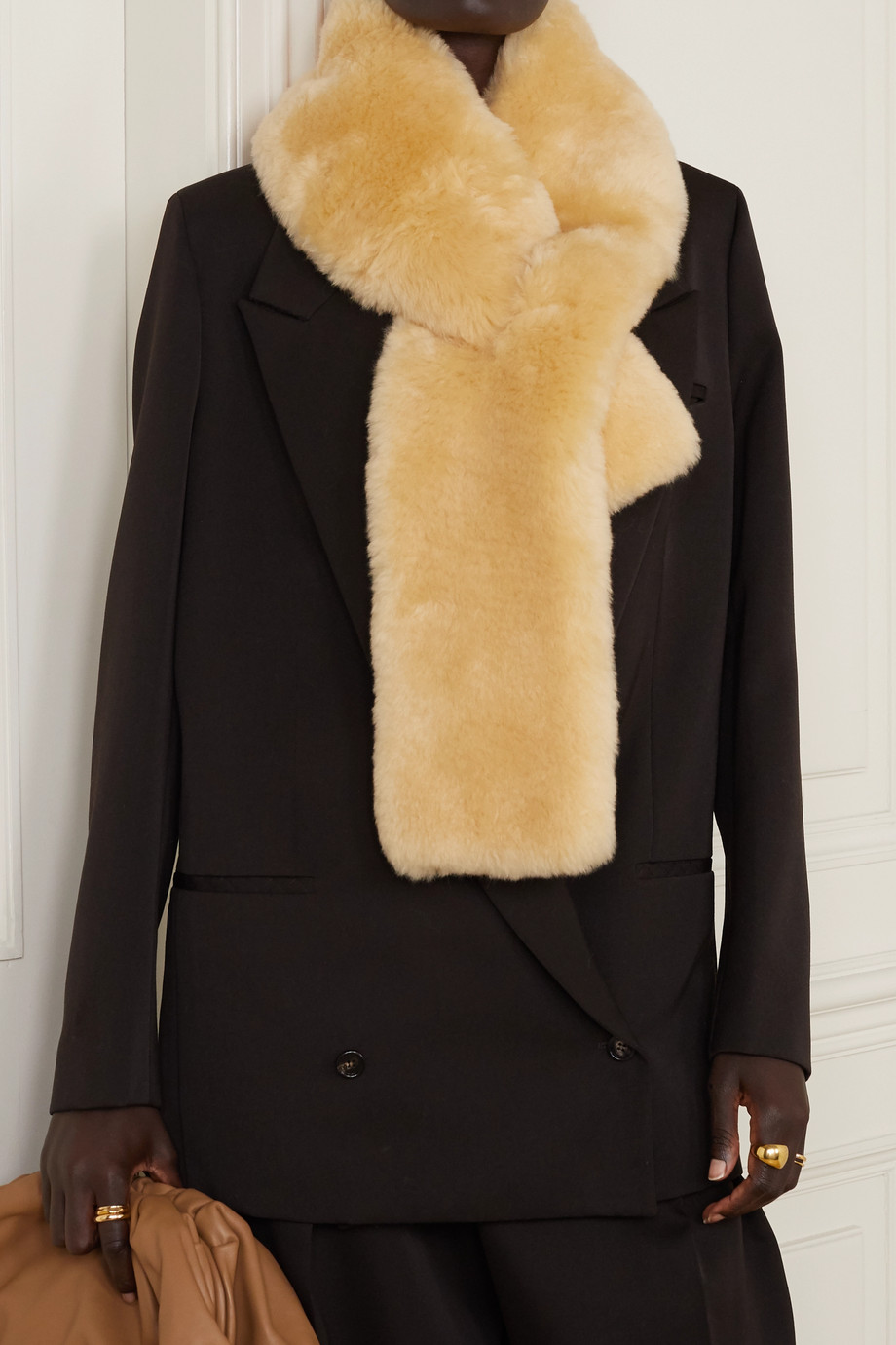 Bottega Veneta Shearling scarf