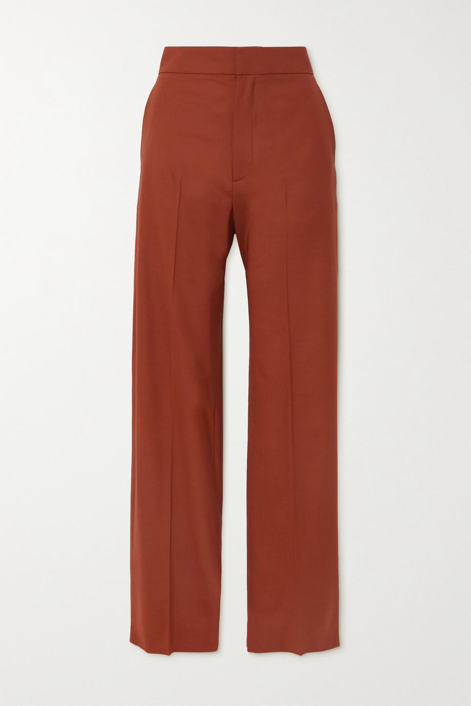 GAUCHERE Seline pleated wool-blend wide-leg pants