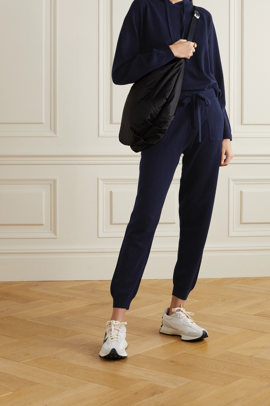 Allude Wool and cashmere-blend hoodie and track pants set