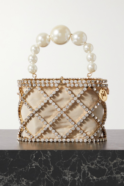 Rosantica Holli Diamond embellished gold-tone tote