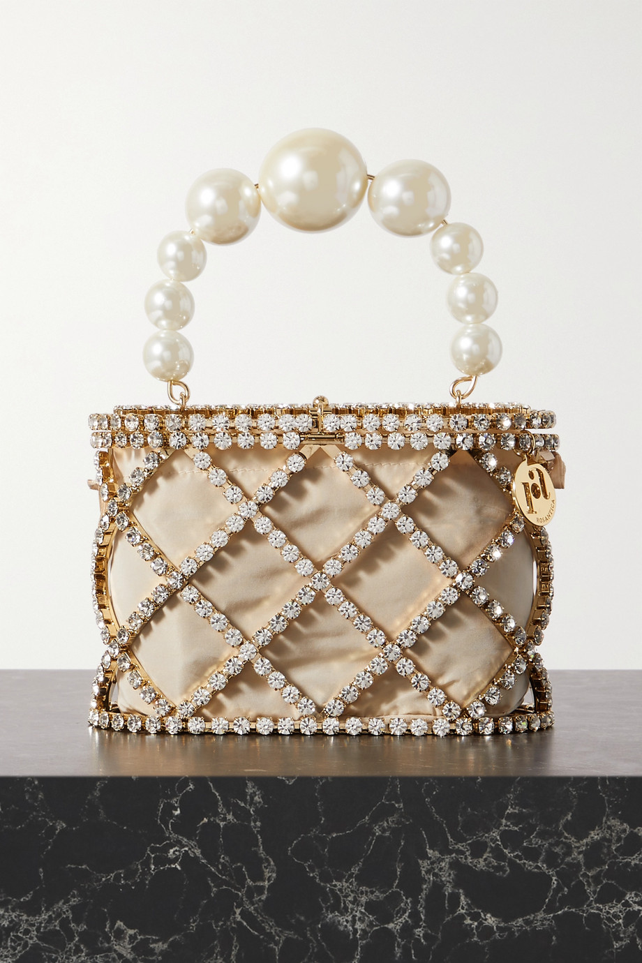 Rosantica Holli Diamond embellished gold-tone tote