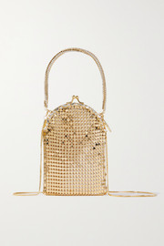 Rosantica Bellagio crystal-embellished chainmail tote