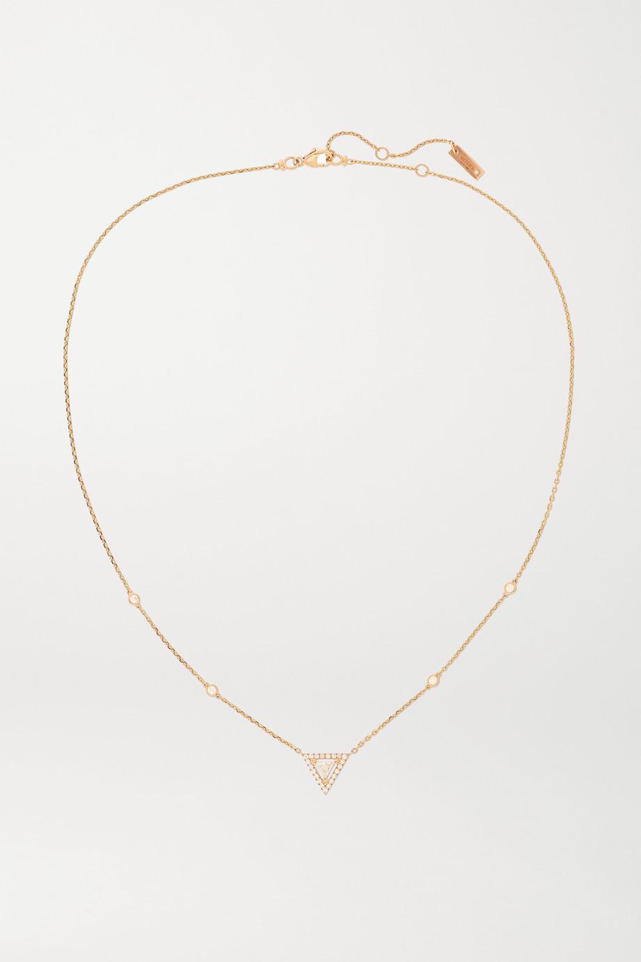 Messika Collier en or rose 18 carats et diamants Théa