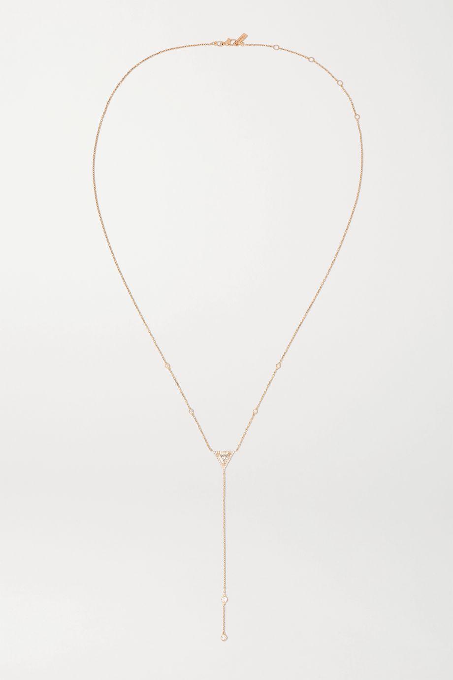 Messika Collier en or rose 18 carats et diamants Théa Long