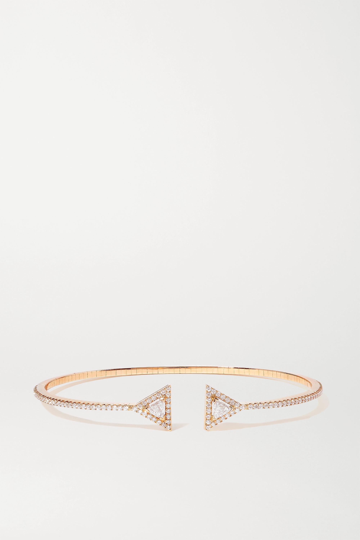 Messika Théa Skinny Armspange aus 18 Karat Roségold mit Diamanten