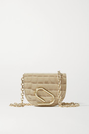 3.1 Phillip Lim Alix mini croc-effect patent-leather shoulder bag