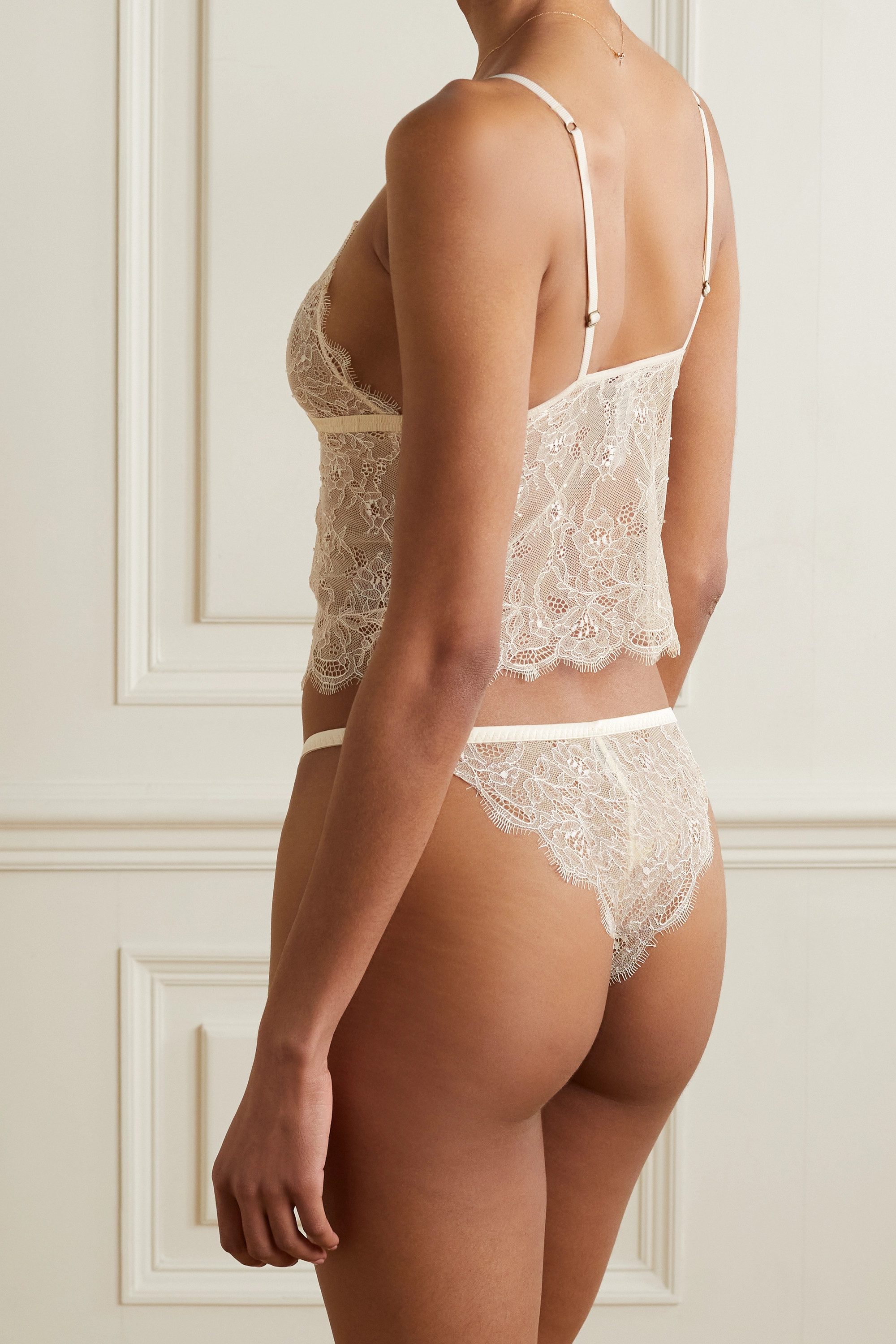 Love Stories Dawn bow-detailed scalloped lace bralette
