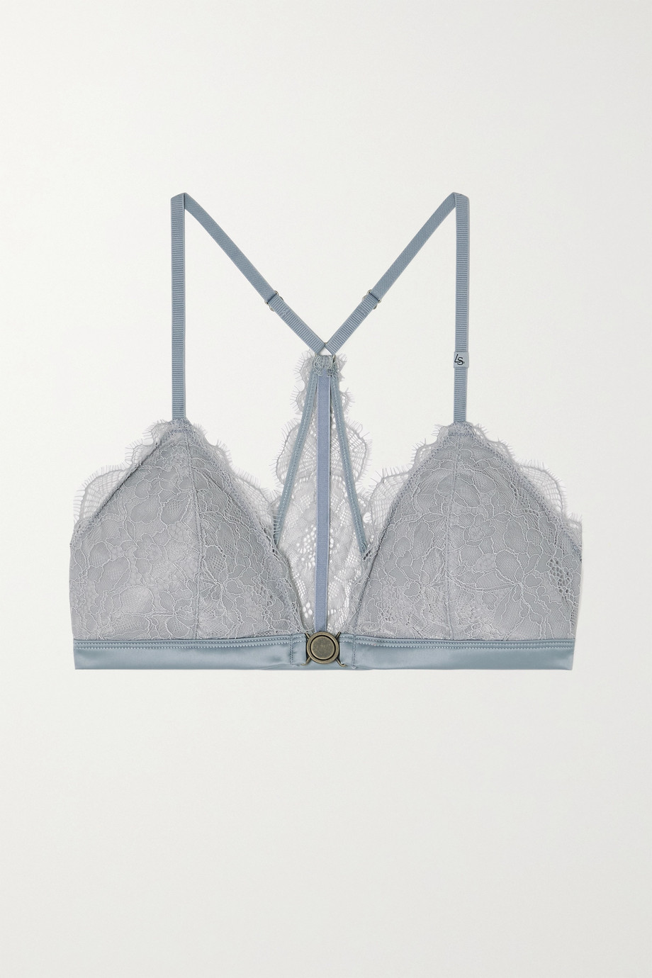 Love Stories June satin-trimmed stretch-lace soft-cup triangle bra