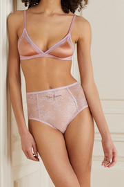 Love Stories Moonflower embroidered stretch-lace briefs