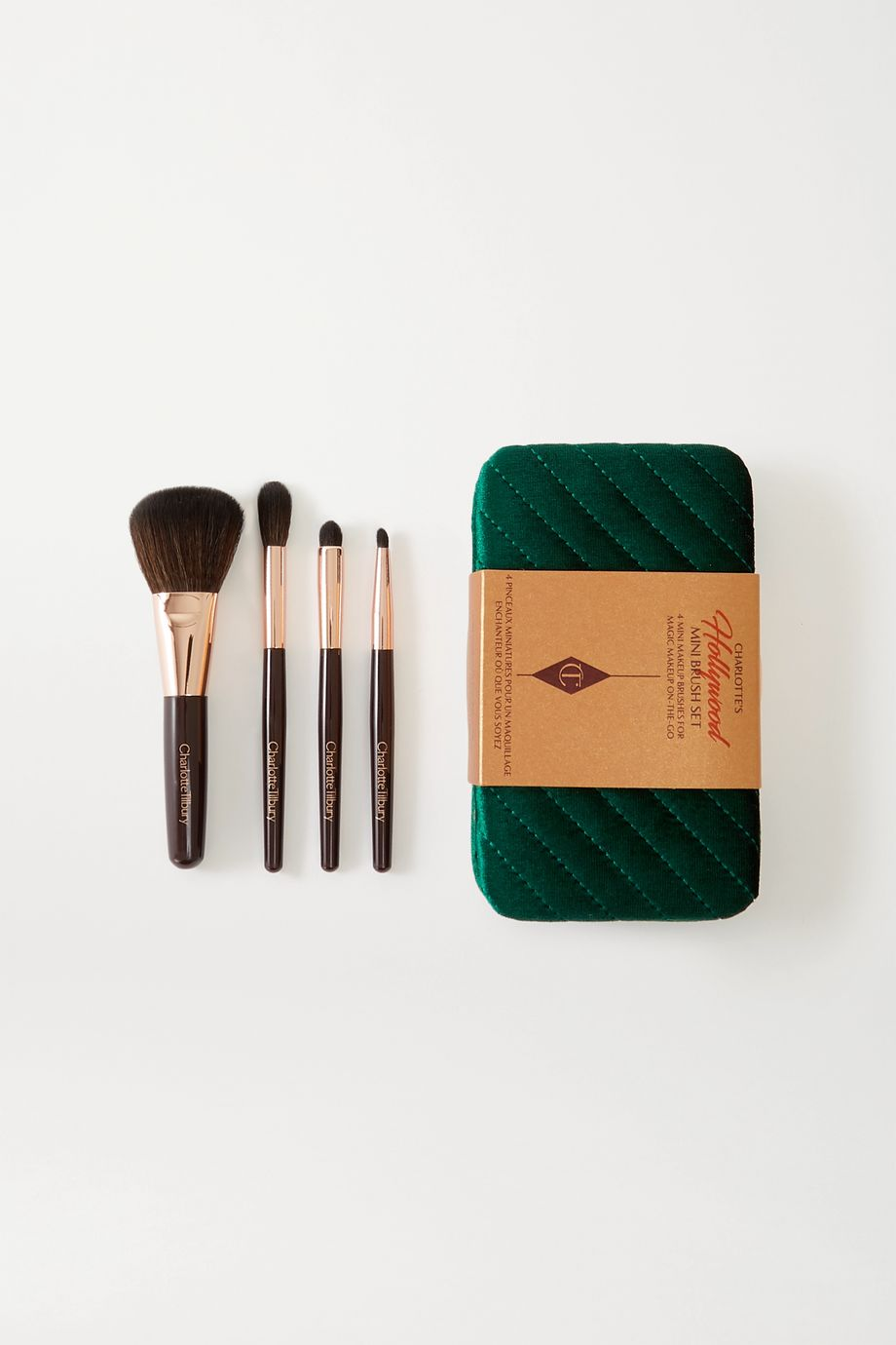 Charlotte Tilbury Coffret de pinceaux à maquillage miniatures Hollywood