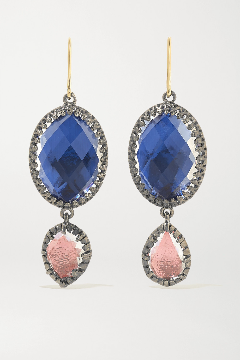 Larkspur & Hawk Sadie rhodium-dipped quartz earrings